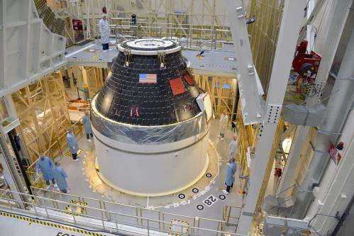 Image: Orion's first crew module complete