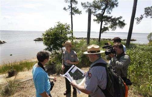 Interior chief: Jamestown at risk from rising seas