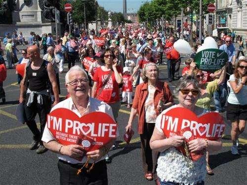 Irish face new abortion row over brain-dead woman