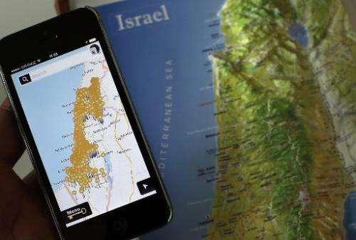 ISRAEL-PALESTINIANS-CONFLICT-TECHNOLOGY-NAKBA-MAPS
