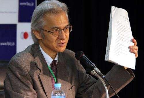 Joji Morishita, Japan's commissioner to the International Whaling Commission, speaks to the press in Tokyo on November 26, 2014