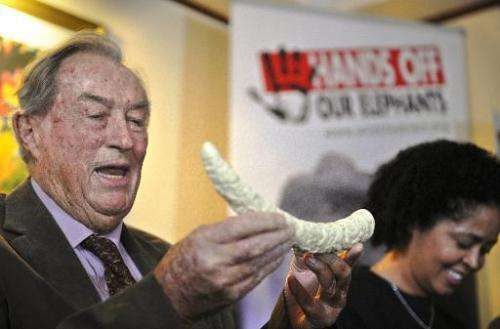 Kenyan palaeontologist Richard Leakey gives a press conference on March 19, 2014 in Nairobi, calling for an emergency response t