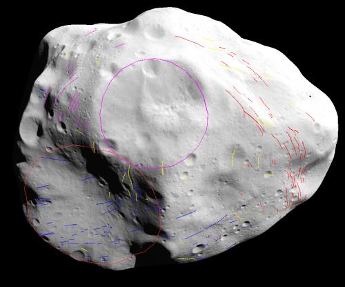 Lutetia's dark side hosts hidden crater