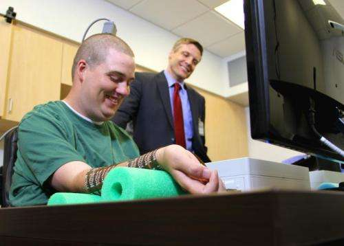 Man moves paralyzed hand with his own thoughts