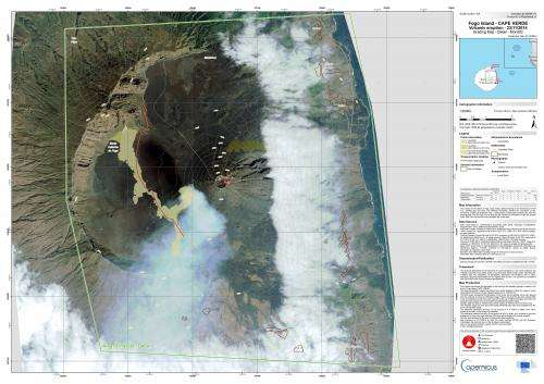 Fogo volcano on Sentinel's radar