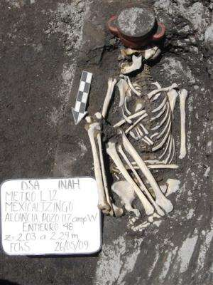 Mexico subway dig turns up unusual Aztec offering