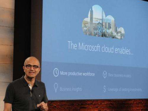 Microsoft chief executive Satya Nadella discusses Microsoft's platform for businesses to tap into the US software titan's comput