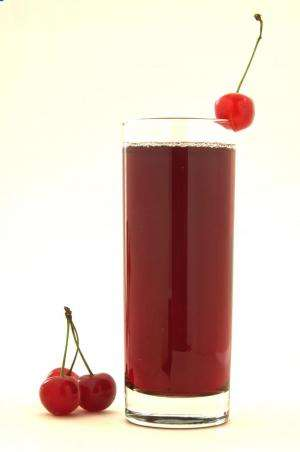 Montmorency tart cherry juice lowered blood uric acid levels and a marker for inflammation