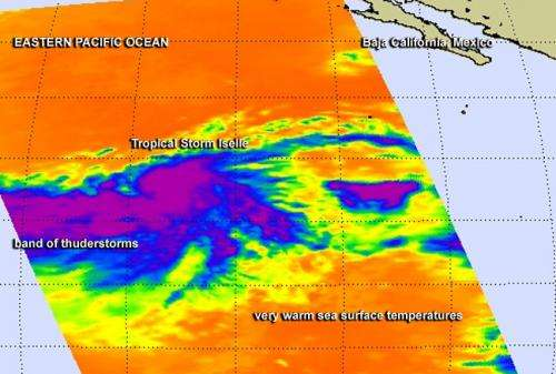 NASA eyes powerful bands of thunderstorms in newborn Tropical Storm Iselle