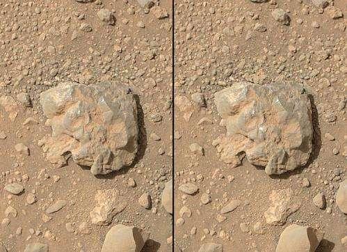 NASA rover's images show laser flash on martian rock