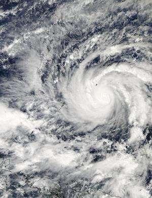 NASA tracks intensifying Typhoon Hagupit