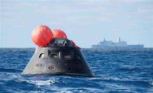 Navy returns NASA's Orion after test flight