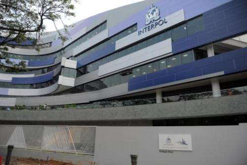 New INTERPOL Global Complex for Innovation (IGCI), pictured in Singapore, on September 30, 2014