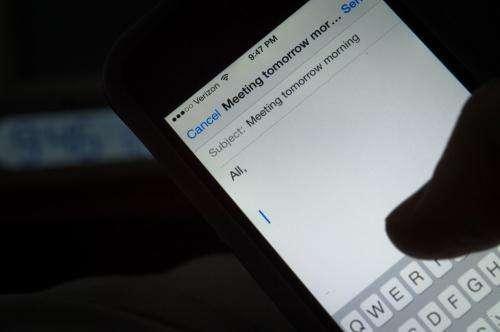 Nighttime smartphone use zaps workers' energy