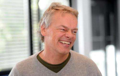 Norwegian neuroscientist Edvard I Moser smiles during a press conference on October 6, 2014 at the Max-Planck-Institute in Marti