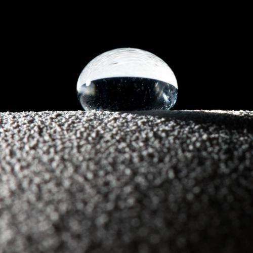 Professors' super waterproof surfaces cause water to bounce like a ball