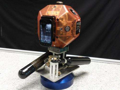 Prototype robot with smartphone to test 3-D mapping, navigation inside space station