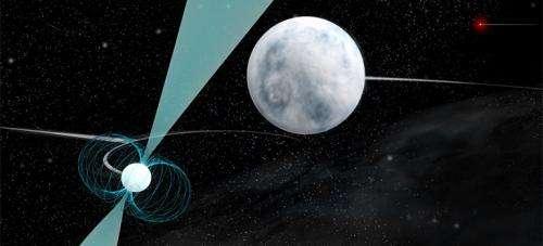 Pulsar in stellar triple system makes unique gravitational laboratory