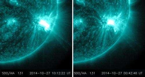 SDO observes more flares erupting from giant sunspot