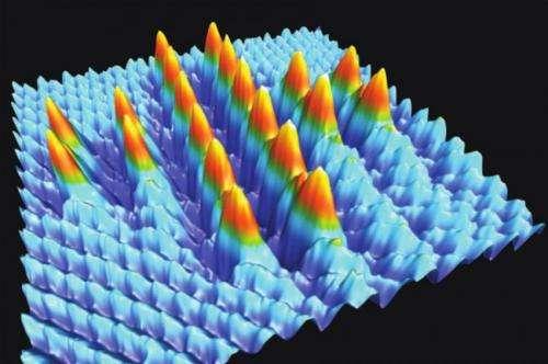 Smallest Swiss cross -- Made of 20 single atoms