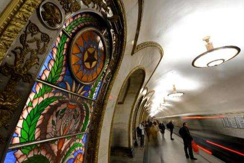 """Soviet dictator Joseph Stalin built Moscow's spectacularly beautiful metro as an example to the world, a symbol of a """"radia"""