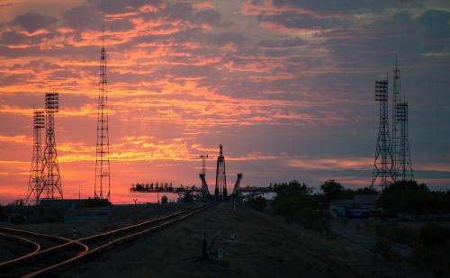 Sunrise at the Soyuz launch pad