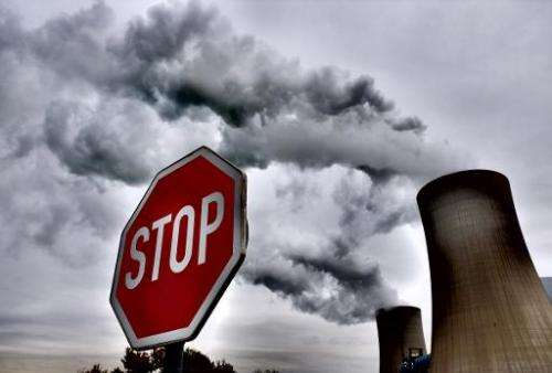 """The power plant """"Neurath"""" run by coal from the brown coal open cast mine Garzweiler is shown October 24, 2014 in Romme"""