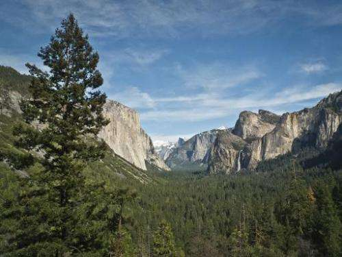 The Yosemite National Park in the United States. About 15 percent of the world's land mass and three percent of its marine areas