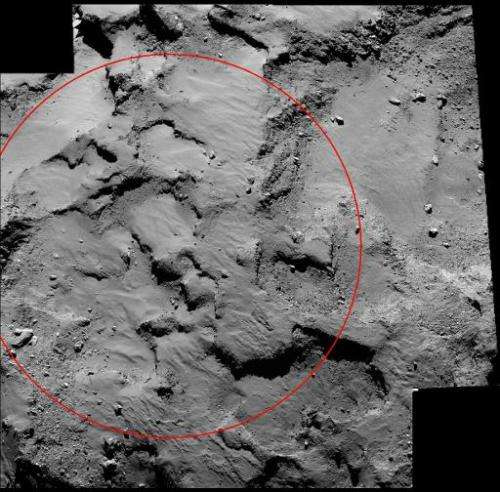 """This image obtained from NASA on October 16, 2014 shows a mosaic from the European Space Agency's Rosetta spacecraft of """"Si"""