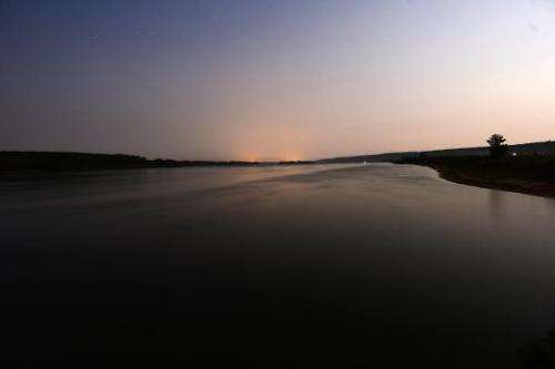 This July 18, 2013 picture shows the Danube river near the village of Dolni Tsibar, Bulgaria