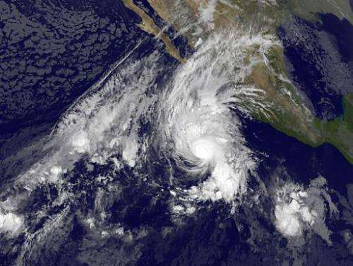 This November 3, 2014 NASA photo shows Hurricane Vance in the eastern Pacific Ocean