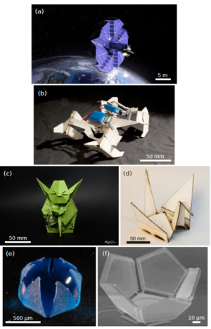 Three-dimensional microtechnology with origami folding art