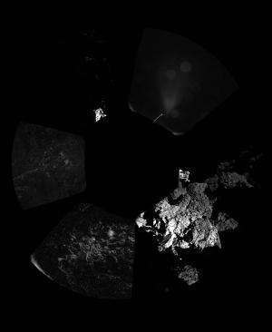 Three touchdowns for Rosetta's lander