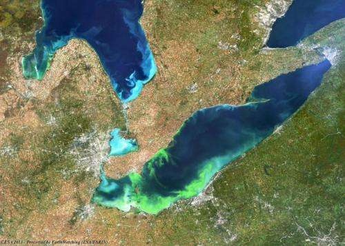 Top weather conditions that amplify Lake Erie algal blooms revealed