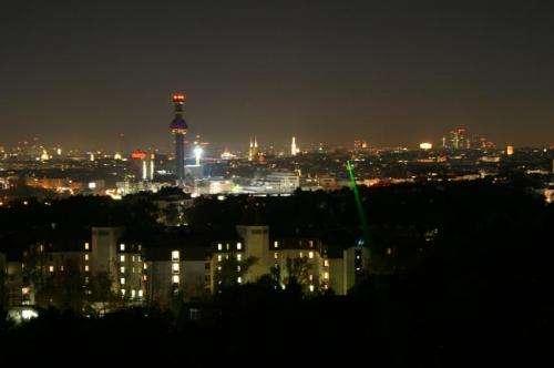 Twisted light waves sent across Vienna