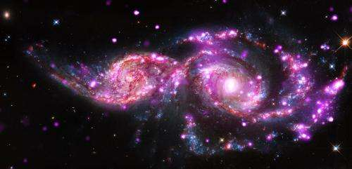 Two spiral galaxies in the process of merging