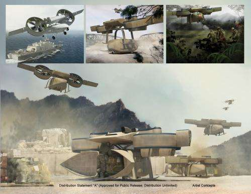 Unmanned aerial logistics system aims to provide more front-line units with mission-tailored vtol capabilities