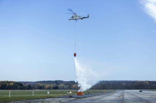 Unmanned quadrotor demonstrates firefighting capability