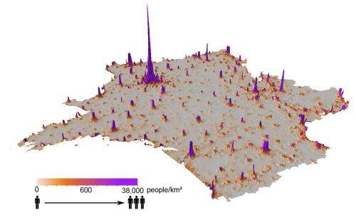 Researchers use cellphone data to construct population density maps