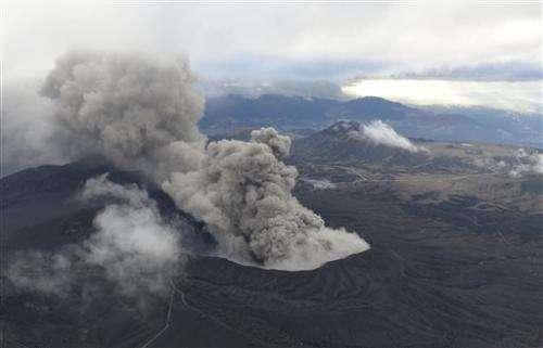 Volcano in south Japan erupts, disrupting flights