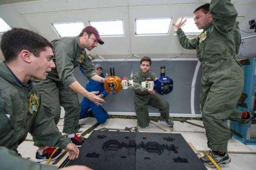 With NASA's help, AeroAstro students work in a space-like environment