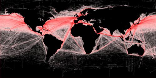 Worldwide ship traffic up 300 percent since 1992