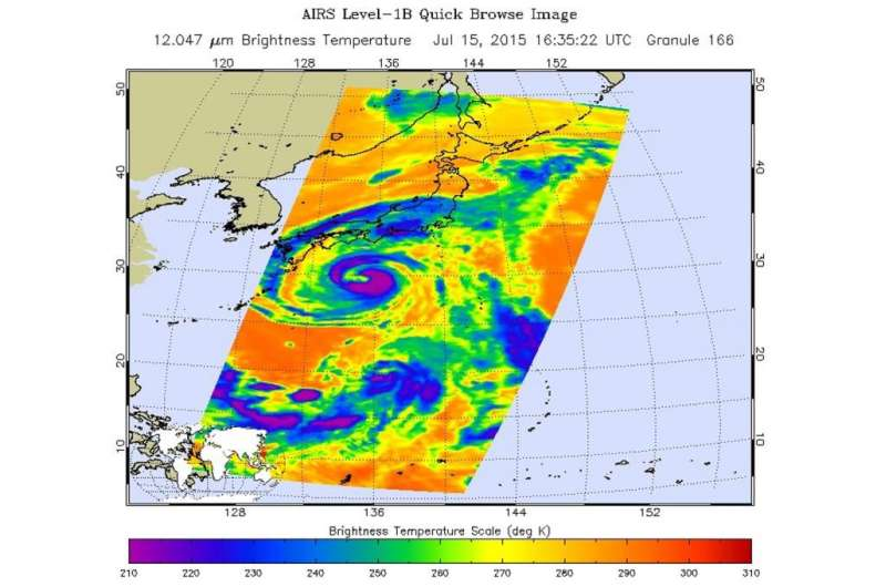 A lesson in infrared light - looking at three tropical cyclones