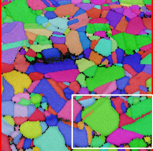 Alternative method for the representation of microstructures in polycrystalline materials