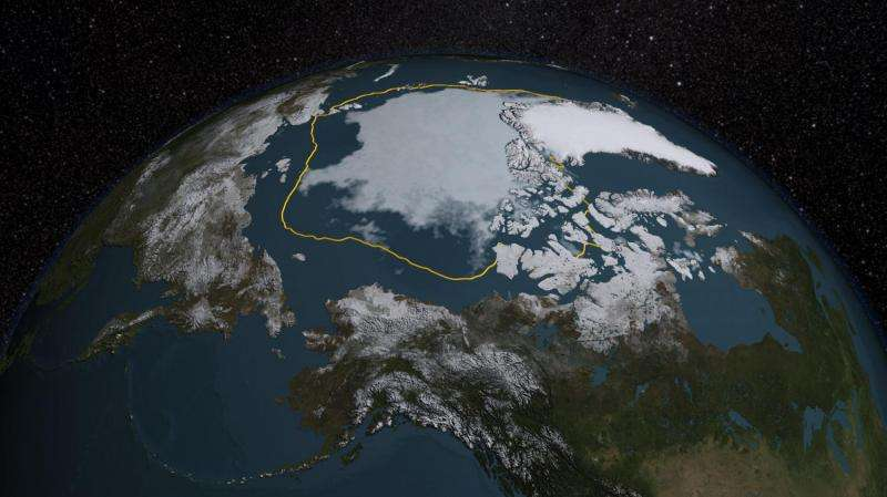 Arctic sea ice summertime minimum is fourth lowest on record