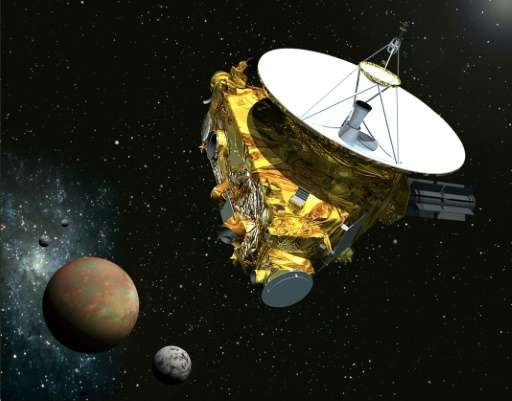 Artist's concept drawing shows NASA's New Horizons spacecraft which is scheduled to make a historic flyby of Pluto on July 14