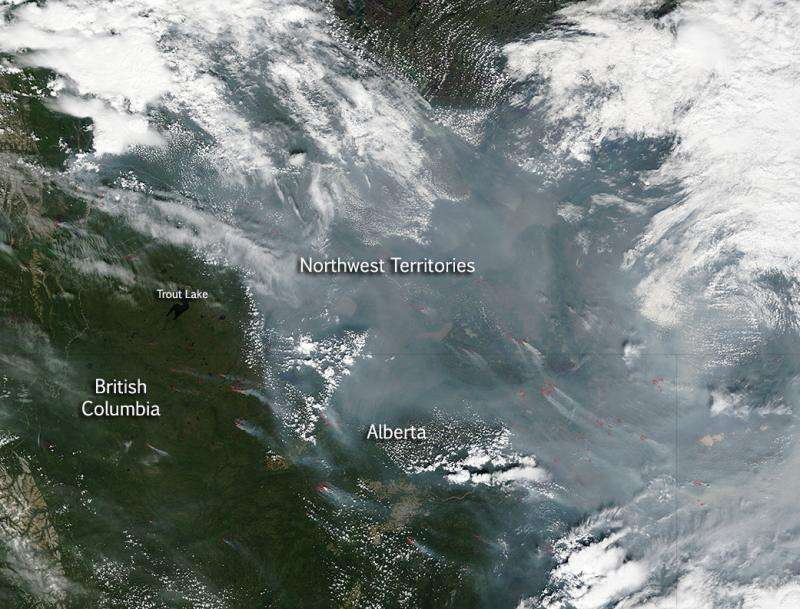 Canadian wildfires continue
