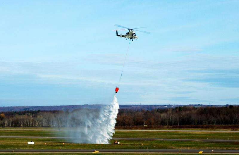 Collaborative unmanned systems extinguish fire in demonstration