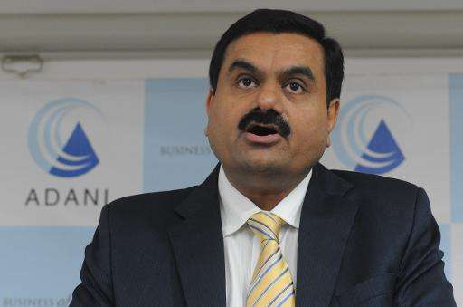File photo of Gautam Adani, Chairman of the Adani Group, speaks during a press conference in Ahmedabad