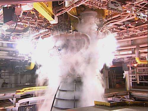 First SLS engine blazes to life in Mississippi test firing igniting NASA's path to deep space